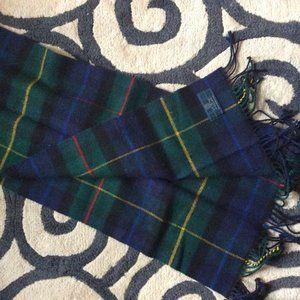 Plaid 100% Wool Scarf-Clans of Scotland